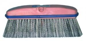 "Magnolia 3040 10"" Vehicle Wash Brush in Black and White"