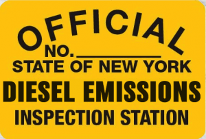 Metal Sign NYS-DE Deisel Emissions