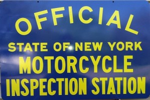 Metal Sign NYS-MC Motorcycle Inspection