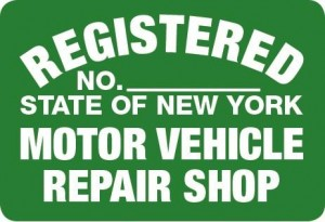 Metal Sign NYS- RS Repair Shop