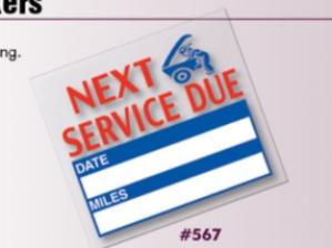 Generic Service Reminder Stickers