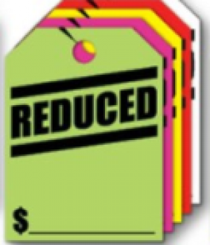 Fluorescent Mirror Hang Tags- Reduced