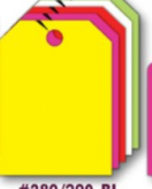 Fluorescent Mirror Hang Tags- Blank