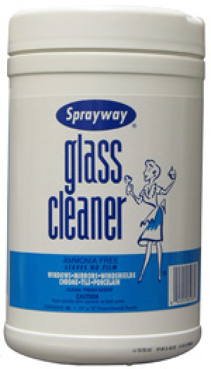 Sprayway Glass Cleaner Wipes Ammonia Free